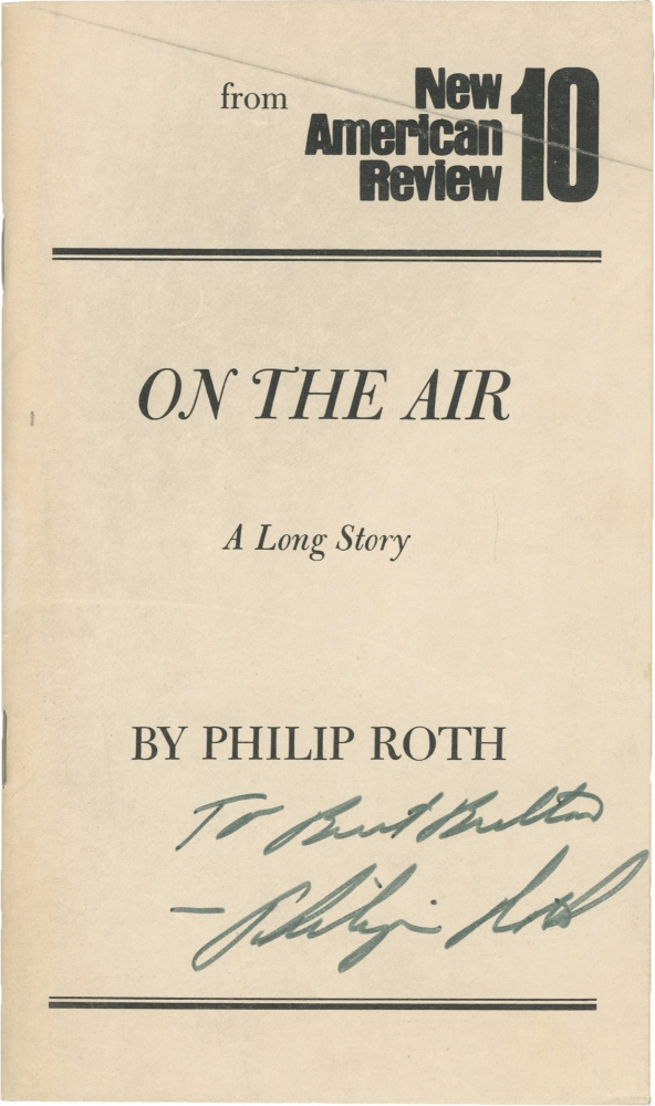 On the Air. Philip Roth.