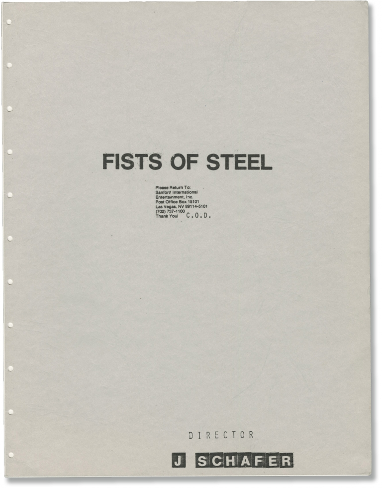 Fists of Steel. Jerry Schafer, Henry Silva Carlos Palomino, Marianne Marks, screenwriter director, starring.