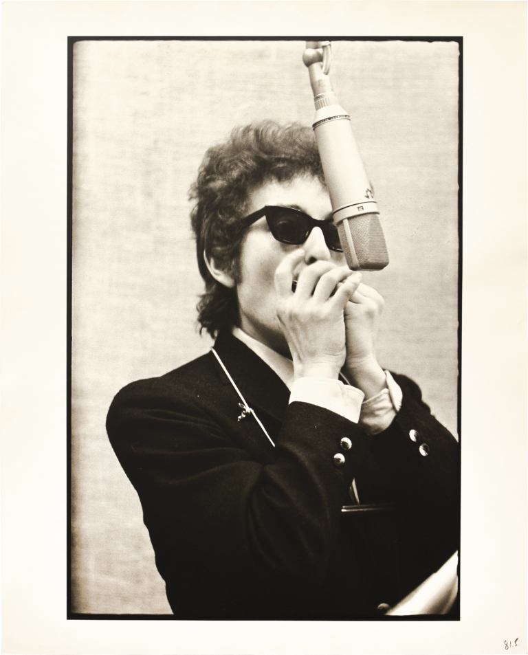 Original oversize photograph used for the cover of the 1991 release Bootleg Series, Volume 1-3. Don Hunstein Bob Dylan, subject, photographer.