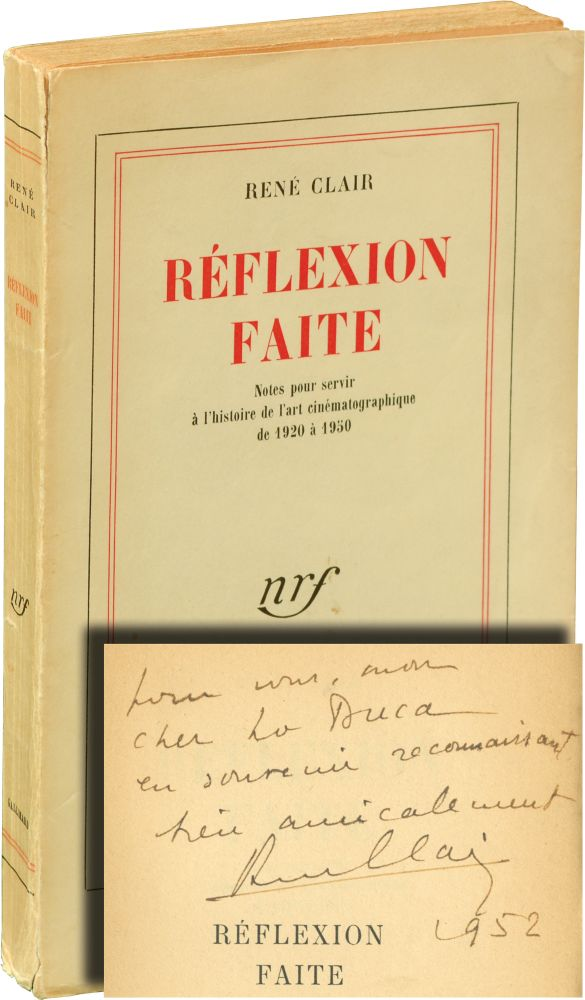 Reflexion Faite [Reflections on the Cinema]. René Clair.