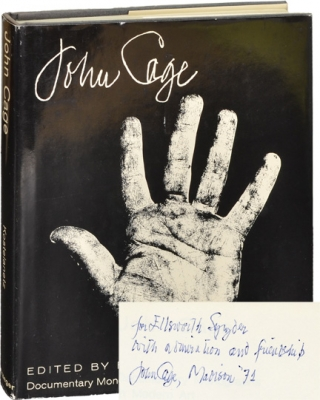 John Cage (First Edition, inscribed to Ellsworth Snyder in 1971). John Cage, Richard Kostelanetz.