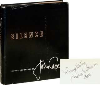 Silence (Signed First Edition). John Cage.