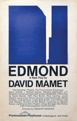 Edmond (Poster from New York stage debut). Broadsides, David Mamet