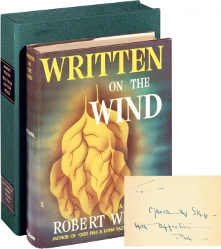 Written on the Wind (Signed First Edition). Robert Wilder.