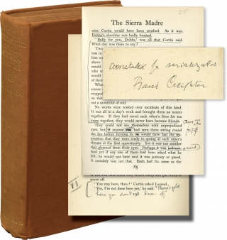The Treasure of the Sierra Madre (First UK Edition, translator Basil Creighton's annotated copy)....