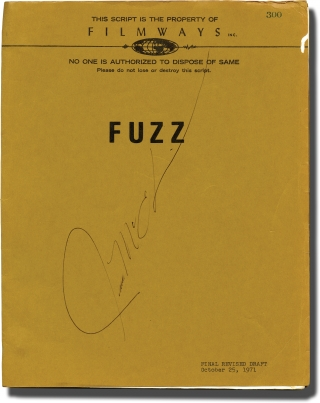 Fuzz (Original screenplay, actor Richard McEachin's copy). Evan Hunter, Ed McBain, screenwriter,...