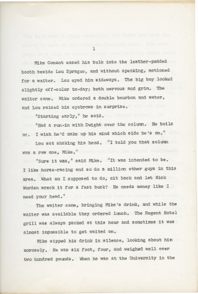 Archive of screenplay and manuscript material by W.R. Burnett