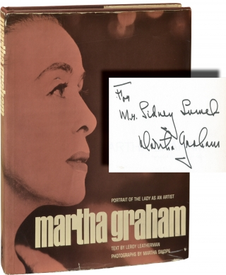 Martha Graham: Portrait of the Lady as an Artist (First Edition, inscribed to Sidney Lumet)....