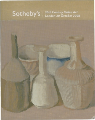 Sotheby's Auction Catalog [Catalogue]: 20th Century Italian Art - 20 October 2008 - London....