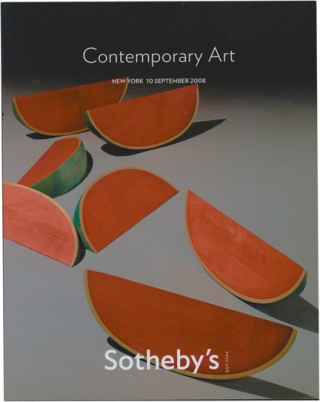 Sotheby's Auction Catalog [Catalogue]: Contemporary Art - 10 September 2008 - New York. Sotheby's...