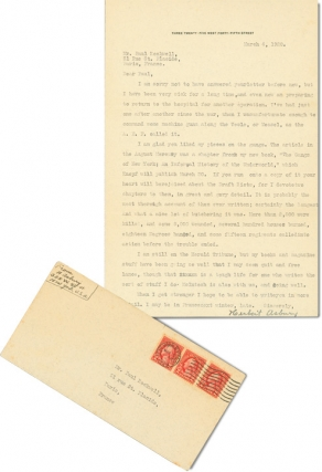 Typed Letter Signed from 1928, regarding The Gangs of New York, newspaper work, and other topics....