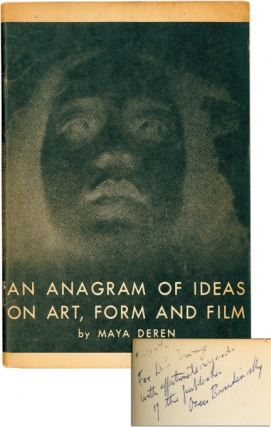 An Anagram of Ideas on Art, Form and Film (First Edition, inscribed by the publisher to D.S....