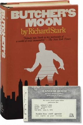Butcher's Moon (First Edition, review copy). Donald Westlake, Richard Stark