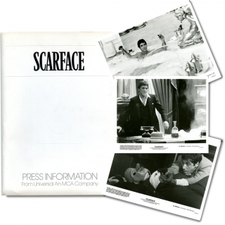 Scarface (Original Press Kit). Brian DePalma, Oliver Stone, Michelle Pfeiffer Al Pacino, Mary Elizabeth Mastrantonio, director, screenwriter, starring, De Palma.