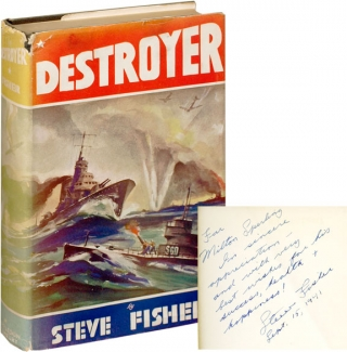 "Destroyer (First Edition, inscribed to the producer of ""I Wake Up Screaming""). Steve Fisher"