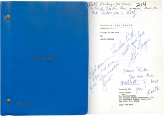 Harold and Maude (Original Play Script, Ruth Ford's copy, inscribed to her by Colin Higgins,...