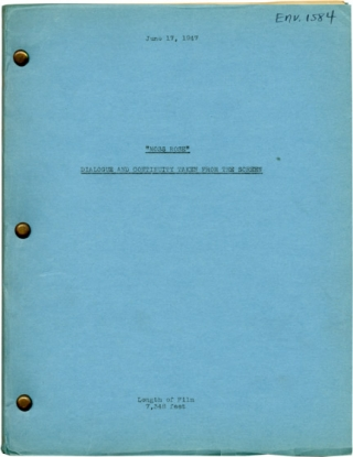 Moss Rose (Post-production script for the 1947 film). Gregory Ratoff, Tom Reed Niven Busch, Jules...