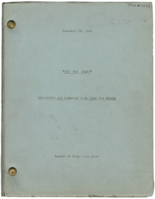 Tin Pan Alley (Post-production script for the 1940 film musical). Walter Lang, Robert Ellis,...