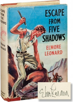 Escape from Five Shadows (First UK Edition, signed). Elmore Leonard.