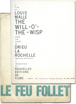 The Fire Within [Le feu follet] (Original French Film Program). Louis Malle, Drieu La Rochelle,...