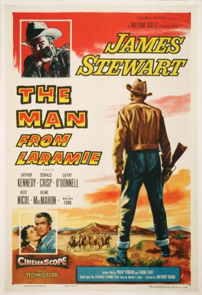The Man From Laramie (Original Film Poster). Anthony Mann, James Stewart, director, starring