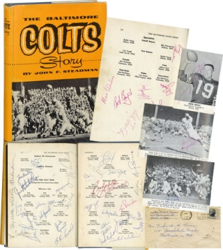 The Baltimore Colts Story (First Edition, signed by 40 team members and staff from the 1962-64...