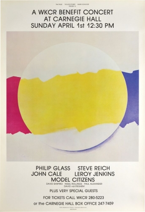 A WKCR benefit Concert at Carnegie Hall, April 1, 1979 (Original Poster). Steve Reich, John Cale...