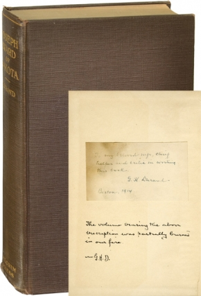 Joseph Ward of Dakota (First Edition, inscribed to Durand's wife). George Harrison Durand