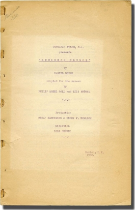 Robinson Crusoe (Original screenplay for the 1954 film, with a TLS from the producer and 6 still...