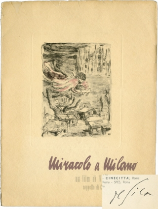 Miracolo a Milano [Miracle in Milan] (Original Italian Program, signed by De Sica). Vittorio De...