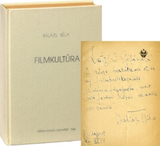 Filmkultura [Theory of the Film] (First Edition, inscribed the year prior to publication). Bela...