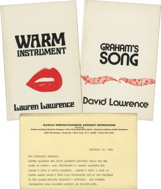 Graham's Song, and Warm Instrument (First Edition, two volumes). David Larence, Lauren Lawrence