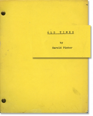 Old Times (Original script for the 1971 play). Harold Pinter, Peter Hall, Rosemary Harris Robert...