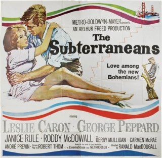 The Subterraneans (Original three-sheet poster for the 1960 film). Jack Kerouac, Ranald...