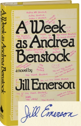 A Week as Andrea Benstock (First Edition, signed by Block as Jill Emerson). Lawrence Block, Jill...