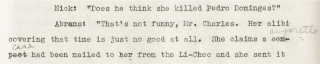 Screenplay for The Thin Man Sequel [After the Thin Man]