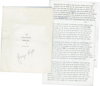 The Alfred Hitchcock Murder Case (Original Manuscript with author's corrections). George Baxt