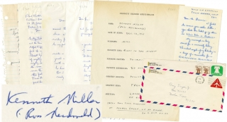Archive of correspondence from the author. Ross Macdonald, Kenneth Millar