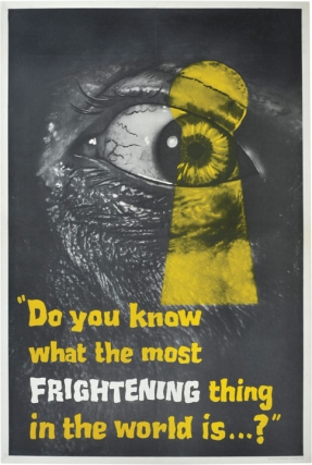 Peeping Tom (Original British Advance Poster for the 1960 film). Michael Powell, Leo Marks,...