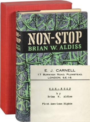Non-Stop (First UK Edition, agent's copy designated for first American rights). Brian Aldiss