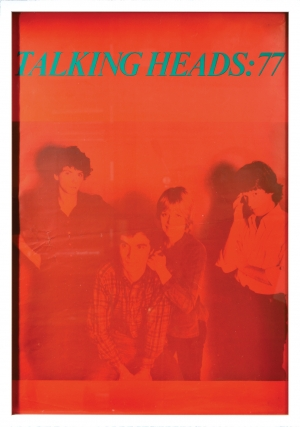 Talking Heads 77 (Original tour poster for the band's first UK tour in 1977). Talking Heads