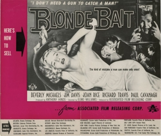 Blonde Bait (Original pressbook for the 1956 film). Elmo Williams, Richard H. Landau Val Guest,...