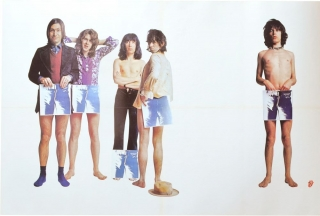 "Original promotional poster for the 1971 Rolling Stones LP, ""Sticky Fingers"" The Rolling Stones,..."