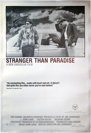 Stranger Than Paradise (Original poster for the 1984 film, Style A). Jim Jarmusch, director