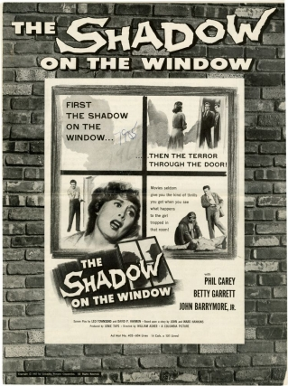 The Shadow on the Window (Original pressbook for the 1957 film). William Asher, Leo Townsend,...