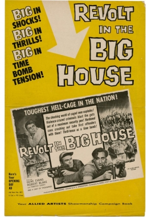 Revolt in the Big House (Original Film Pressbook). R. G. Springsteen, Robert Blake Gene Evans,...