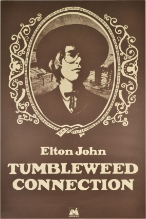 Tumbleweed Connection (Original poster). Elton John