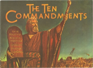The Ten Commandments (Original Film Program). Cecil B. Demille, Yul Brynner Charlton Heston,...