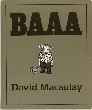 Baaa (First Edition, review copy belonging to writer George Zebrowski). David Macaulay