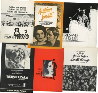 Collection of pressbooks for international arthouse releases in the 1970s via New World Pictures....